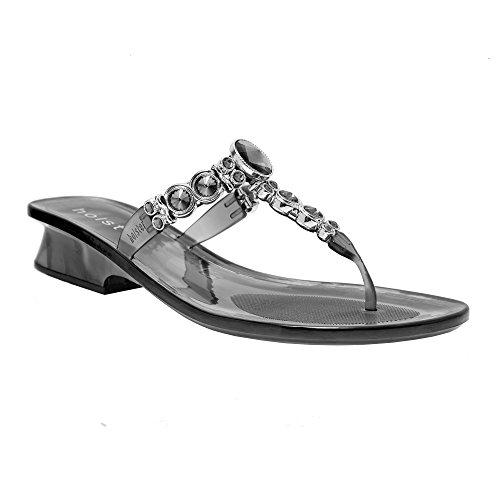 ed878c1ea1bb Womens Luxury Jeweled Australian Crystal Heel Summer Sandal (9