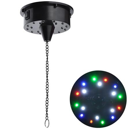 Rotating Mirror Ball Electric Motor With 4 Led Colors
