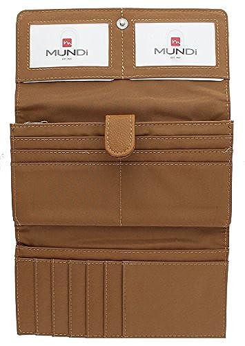 05. Mundi File Master Womens RFID Blocking Wallet Clutch Organizer With Change Pocket