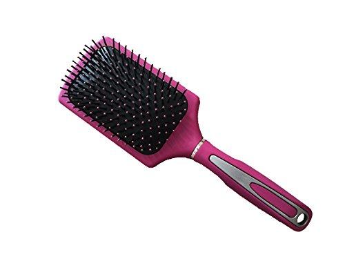 new-large-professional-paddle-hairbrush-tangle-free-cushion-massage-comb-brush-hot-pink