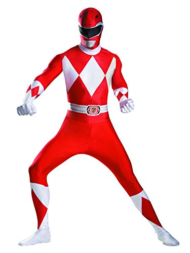 Skinovations Mens Red Ranger Costume Power Ranger Morphsuit 2nd Skin Suit XL