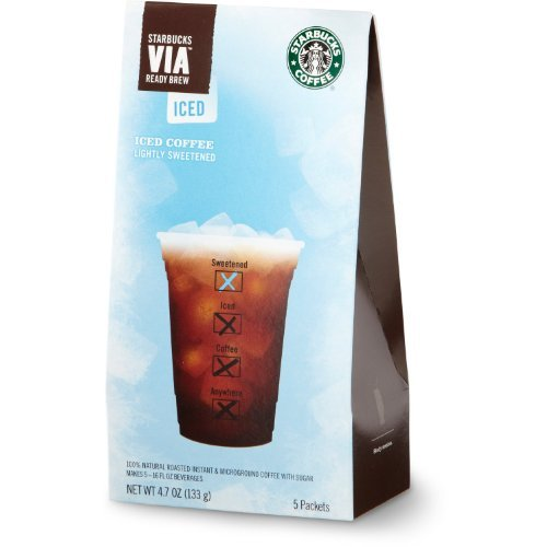 Starbucks VIA® Ready Brew Iced Coffee (3 Pack/Boxes) 5 Packets Each Box (Iced Via Coffee Starbucks compare prices)