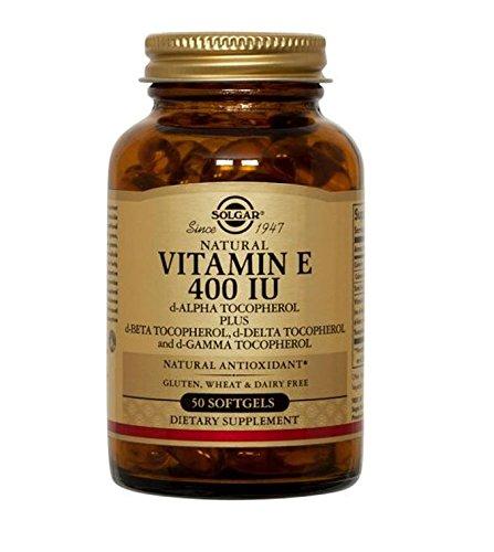 Solgar Vitamin E 400 IU Mixed (D-Alpha Tocopherol and Mixed Tocopherols) Softgels, 50 Count (Food Based Vitamin D compare prices)