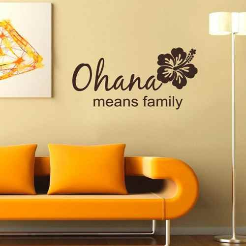 Ohana Means Family Vinyl Wall Decal Beach Decor Family Wall Art Quotes (Black,xs) (Ohana Decal compare prices)