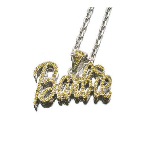 NEW NICKI MINAJ BARBIE Pendant w/18 Chain Silver Small Yellow