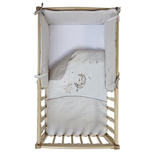 Clair de Lune Bedtime Story Rocking Crib Bedding includes Quilt and Bumper