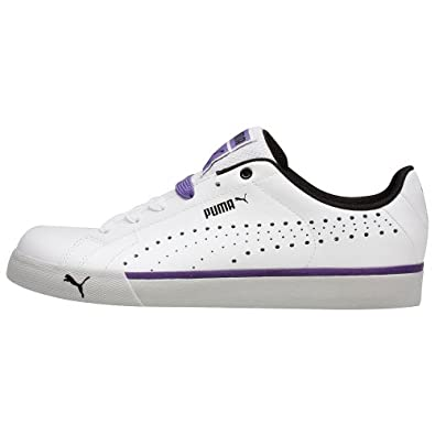 Puma Men's PUMA GAME POINT LACE CASUAL SHOES 9 (WHITE/BLACK-TEAM VIOLET)