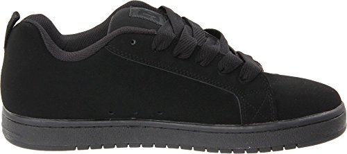 DC Men's Court Graffik Skate Shoe, Black/Black/Black, 11 M US