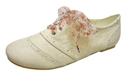 Big & Tall Women Shoes Beige Lace Canvas