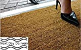 Natural Coconut Coir Entrance Matting - Heavy Duty - 17mm high - size 0,40m x 0,60m