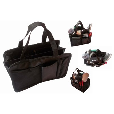 Handbag Organiser, Bag Liner, Bag Insert or Make-Up Organiser - L27cm H16.5cm D12cm - Black