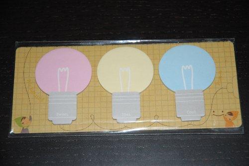 Pack of 3 Light Bulb 'Bright Idea' Sticky Notepads
