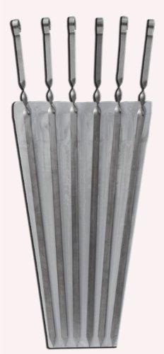 "Stainless Steel Skewer Kebab BBQ 28"" Set 20 Pcs"