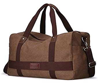 Men's Large Capacity Canvas Travel Tote Luggage Weekender Duffel Satchel Handbags