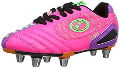 Optimum Boys Velocity Rugby Boots RBVPPJ1 Pink/Purple 1 UK, 34 EU