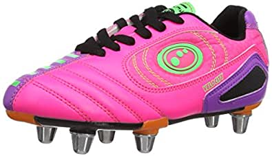Optimum Boys Velocity Rugby Boots RBVPPJ2 Pink/Purple 2 UK, 35 EU