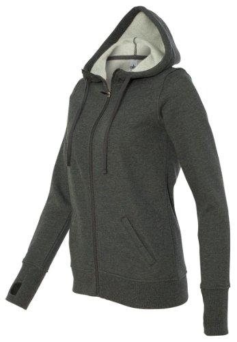 Alo Ladies' Performance Fleece Hooded Full-Zip, S, Dark Grey