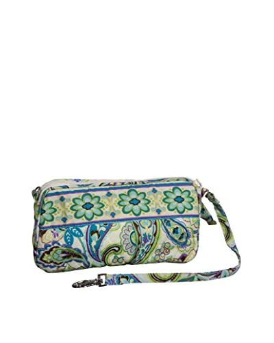 Home Essentials and Beyond Maria Large Wristlet, Turquoise/White