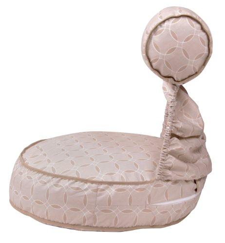 Leachco Preggie Pouffe Maternity Soft Seat, Taupe Rings