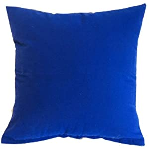Throw Pillows Royal Blue : Royal Blue Solid Color Flocking Velvet 100% Polyester Throw Pillow Covers Pillowcase Sham Decor ...
