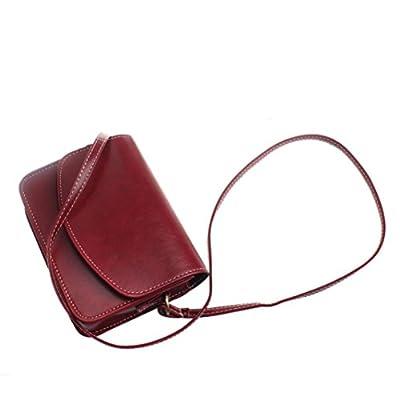 Sac à main, FeiTong Imitation cuir Retro Messenger bandoulière de femmes Cartable