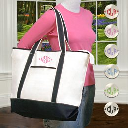 The Weekender Monogrammed Tote Bag