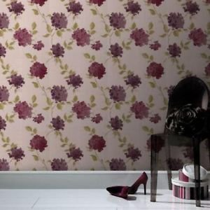 SuperFresco Easy Amelia Wallpaper - Ruby by New A-Brend