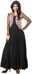 K.K BROTHERS Women's Net Dress Material (Black)