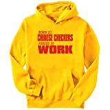 BORN FOR Chinese Checkers , FORCED TO WORK ! Sports Mens Hoodie (Yellow, Sizes X-Small &#8211; XXX-Large)