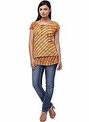 Miraaya Women's Tunic (IN2061D_3559_Orange_Medium)