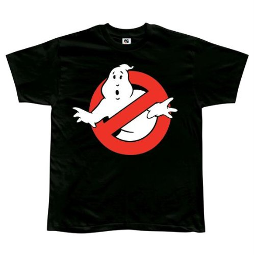 Ghostbusters Ghost T shirt Large Black