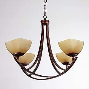 kronleuchter 4 licht rustikale archaistic eisen glas. Black Bedroom Furniture Sets. Home Design Ideas