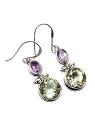 Admyro 2015 Designer Earring-925 Silver Earring-Netural Gemstone Earring-Latest Design Earring-Partywaer Earring... - B00YEKTYKE