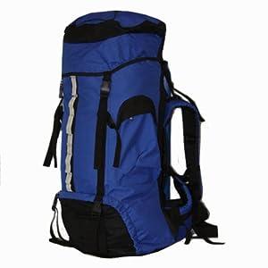 75L Camping Rucksack / Backpack / Hiking (Blue & Black)