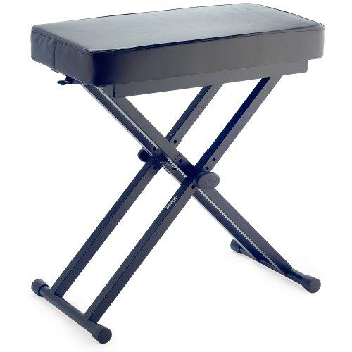 stagg keb a60 banc de clavier r glable double embase noir bancs sieges tabourets piano. Black Bedroom Furniture Sets. Home Design Ideas