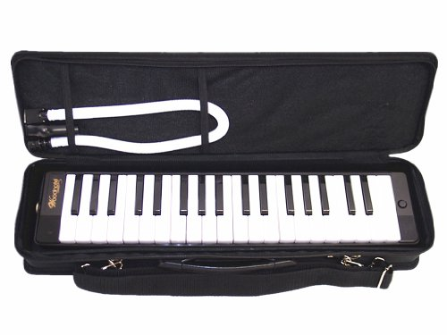 Woodnote-Beautiful-Black-37-Key-Melodica-with-Carrying-Case