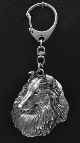 Cane da pastore scozzese a pelo lungo, portachiavi di cane, ArtDog