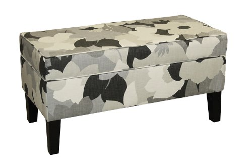 Skyline Furniture Modern Upholstered Storage Bench in Esprit Charcoal at Sears.com