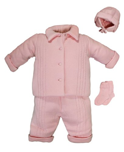 For Sale Bebe Estrella 4 Pc.100% Cotton Knitted baby / Toddler Sweater Set (Pink 9M)  Review