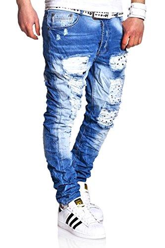 MT Styles Destroyed Jeans Slim Fit RJ-2220 [Blau, W32/L32] thumbnail