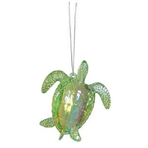 Sea Turtle Christmas / Hanging Ornament - Acrylic