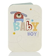 Collage Cute Baby Boy Card