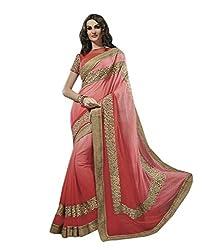 Subhash Sarees Party Wear Peach Color Georgette Saree Sari Sarees