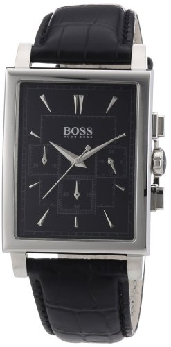 Hugo Boss 1512849 - Reloj cronógrafo de cuarzo para hombre con correa de piel, color negro