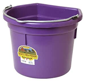 Little Giant Flat-Back Dura-Flex Plastic Bucket, 22-Quart, Purple