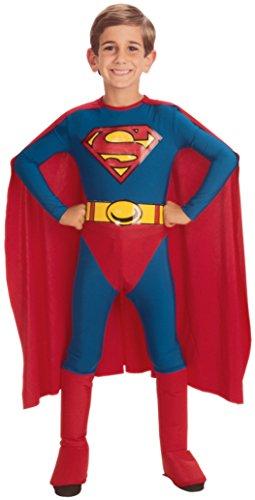 Boys Superman Kids Child Fancy Dress Party Halloween Costume, S (4-6) (Superman Fancy Dress Costume)