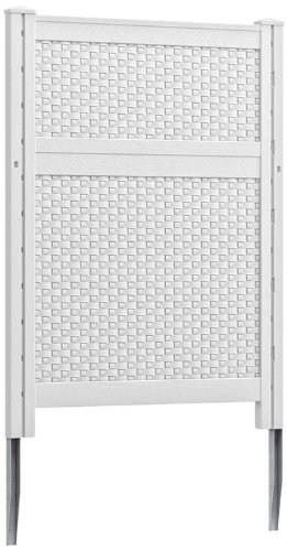 Suncast blow molded resin screen white for Outdoor privacy screen white