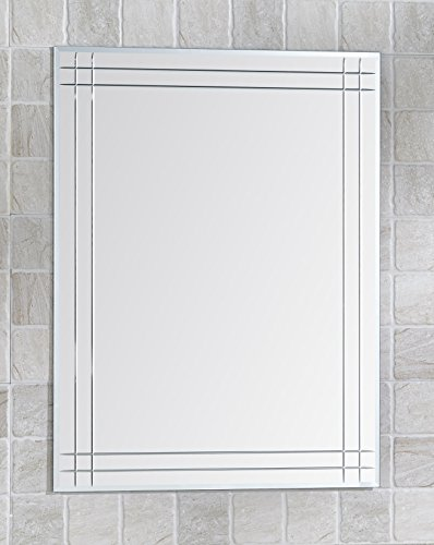 Basic Living Bathroom Mirror 100% Glass, Silver Plated, 31.5