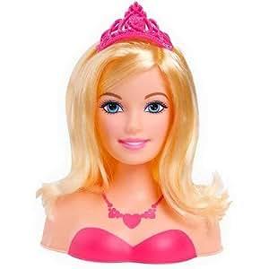 Barbie la princesse et la popstar t te coiffer de princesse 20 cm import royaume uni - Jeux de barbie popstar ...
