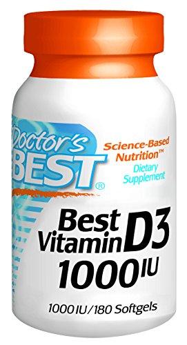 Doctors Best Best Vitamin D3 1000IU, 180 Softgels (000IU, 180 Softgels)